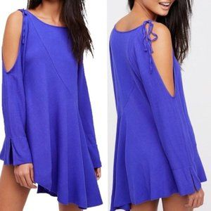 Free People Violet Cold Shoulder Long Sleeve Tunic